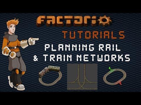 Factorio Train Tutorial - Planning A Rail Network : Junction Spacing, Train Size & Mainline
