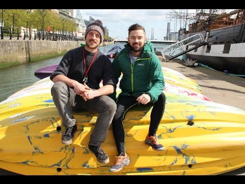 Kayaking up the River Liffey, Dublin - Deric Ó hArtagáin