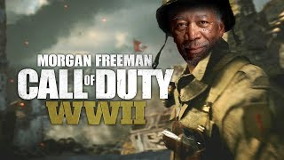 Morgan Freeman Plays Call of Duty WWII