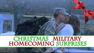 Christmas Military Homecoming Surprises