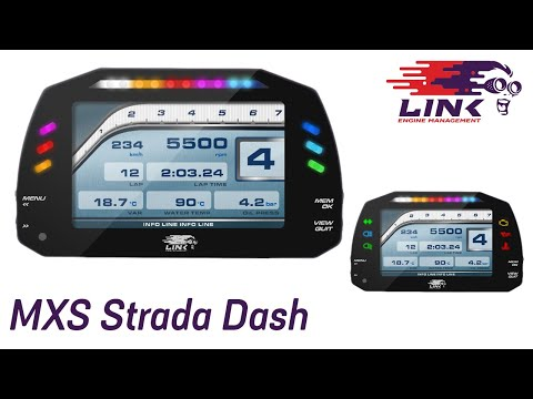 Overview: Link MXS Strada Dash, Powered By AiM Technologies.