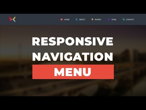 Responsive Menu Navigation Using HTML CSS & JQuery