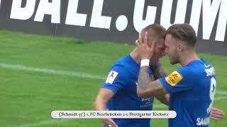 1. FC Saarbrücken - Stuttgarter Kickers   Spielzusammenfassung (6. Spieltag 17/18)