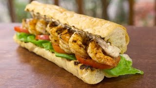 New Orleans Grilled Shrimp Po Boy Recipe - On A Lynx Gas Grill - Bbqguys.com