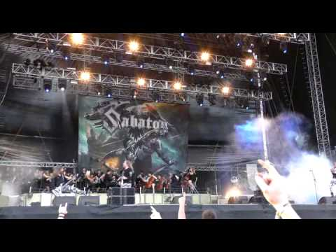 Sabaton with Bohemian Symphony Orchestra Prague BSOP    March To War and Ghost Division Rock in Vien