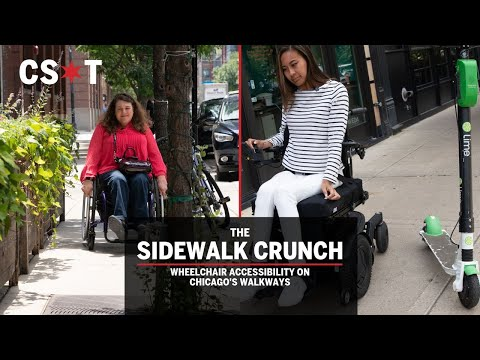 Chicago's cluttered sidewalks present challenges for wheelchair accessibility