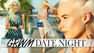 GRWM MALDIVES DATE NIGHT   TWO OUTFIT CHOICES, MAKEUP AND HAIR ad