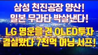 삼성 천진공장 양산! 일본 무라타 박살낸다! LG 명운을 건 OLED투자결실봤다 7천억 어닝 서프!