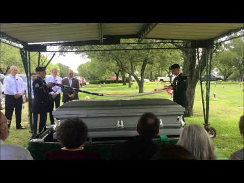 Wayne Rogers Military Honors at Burial