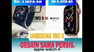 Gambar cover Unboxing iwo 8 Terbaru~jam smart watch mewah murah-serasa pakai apple watch serie 4(iwo8 2019)