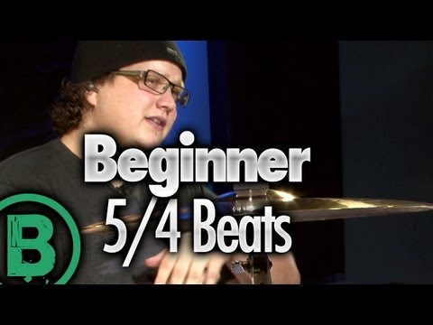 5/4 Drum Beats - Beginner Drum Lessons