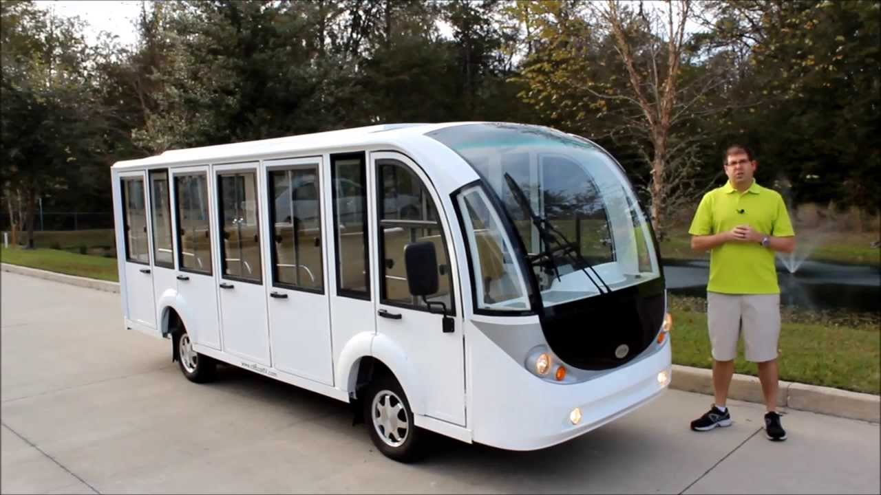 15p Enclosed Electric Shuttle Tram From Citecar Electric