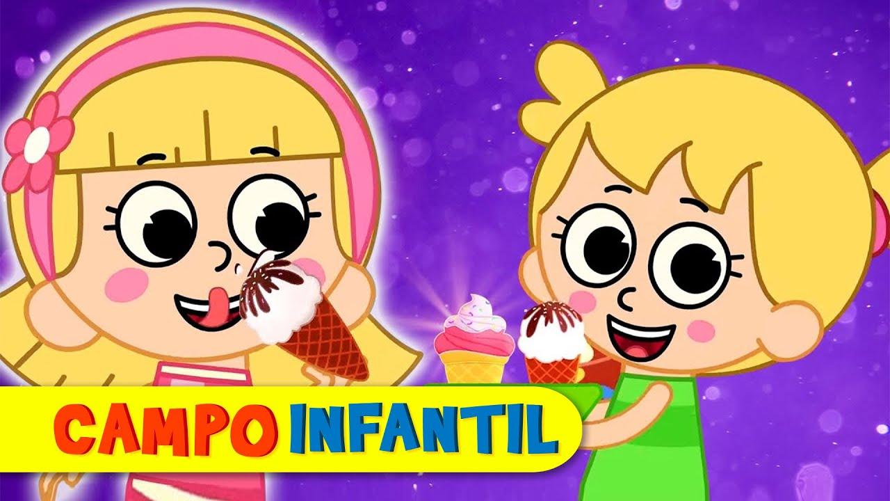 ¡Un helado quiero yo! - Canciones infantiles animadas | Campo Infantil