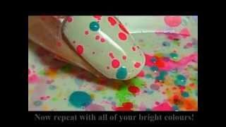 Fun and Easy Splatter Party Nail Tutorial thumbnail