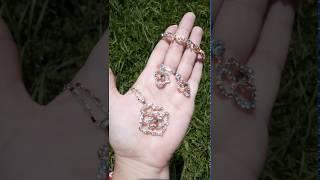 Сваорвски комплект с флорални мотиви