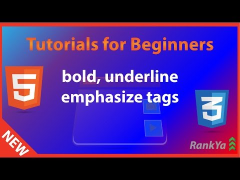 HTML Tutorials For Beginners Strong, Underline, Emphasized Tags