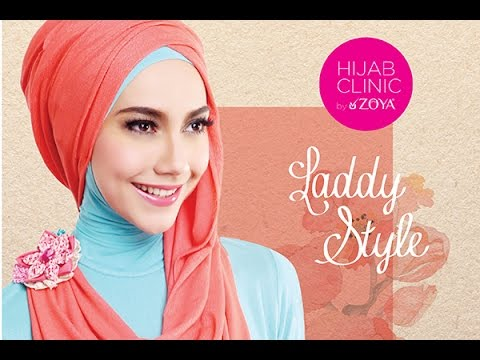 Tutorial Hijab Pashmina Arab Simple Untuk Dinner Zaskia Adya - YouTube