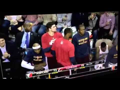 James jones off the Cleveland Cavaliers picks his nuts