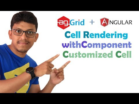 agGrid + angular: customized cell, cell rendering, cell colour,  withComponent