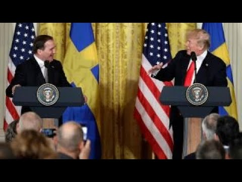 Trump talks trade imbalances with Swedish PM Lofven