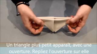 Pliage de serviette Isambourg 19/ Petit bateau