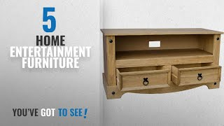 Top 10 Home Entertainment Furniture [2018]: Home Discount Corona Flat Screen TV Unit Mexican Pine