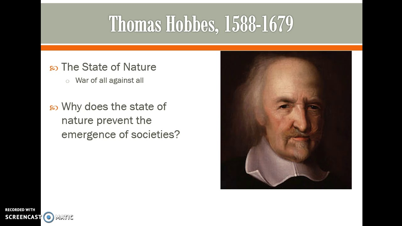 essays on hobbes state of nature Sample essay words 1,320 the english philosopher thomas hobbes, (1588-1679) was one of the major thinkers in the field of political philosophy in contrast to the philosophers that sanctified and idealized the state of nature, hobbes holds that the state of nature is a miserable state.