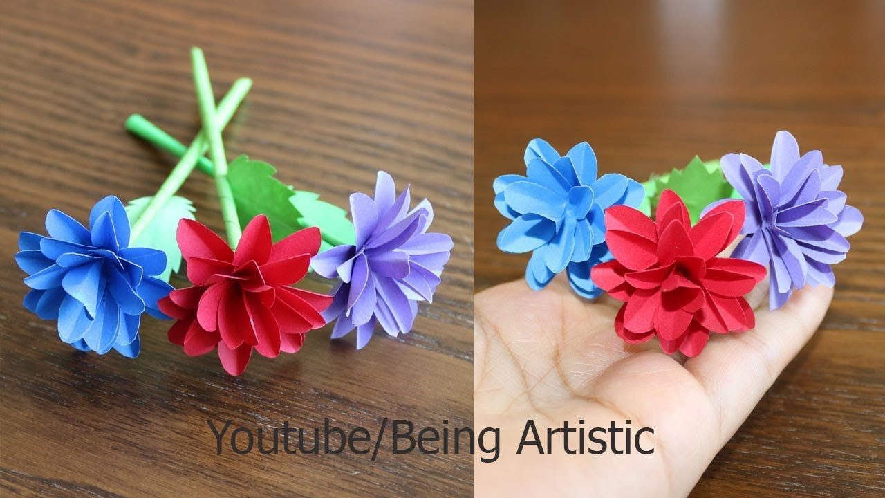 How To Make Small Paper Flower Diy Handmade Craft Paper Craft