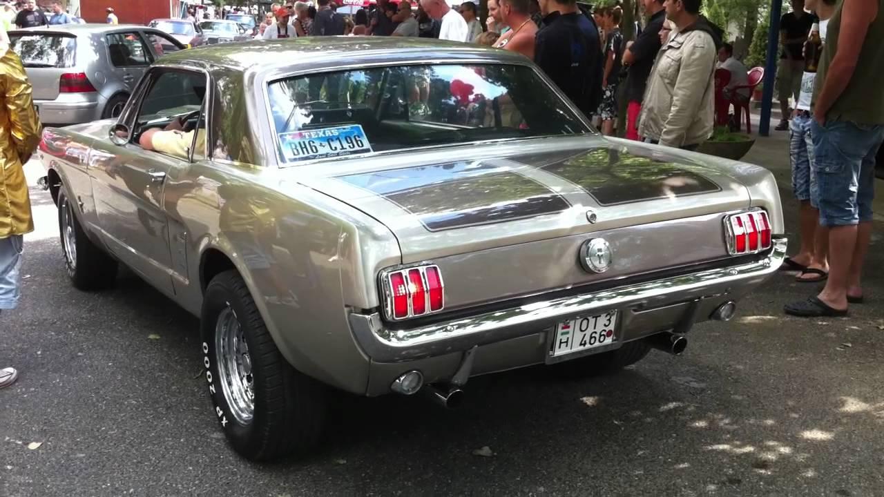66 Ford Mustang V8 Sound Amp Burnout Youtube