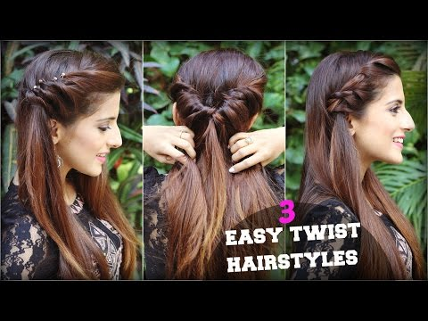 1 Min CUTE & EASY Everyday Twist Hairstyles Tutorial