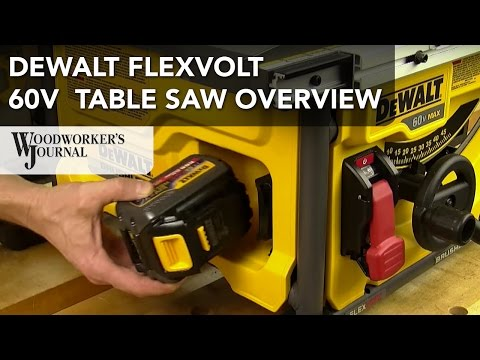 DeWALT FLEXVOLT 60V MAX Table Saw Features Overview