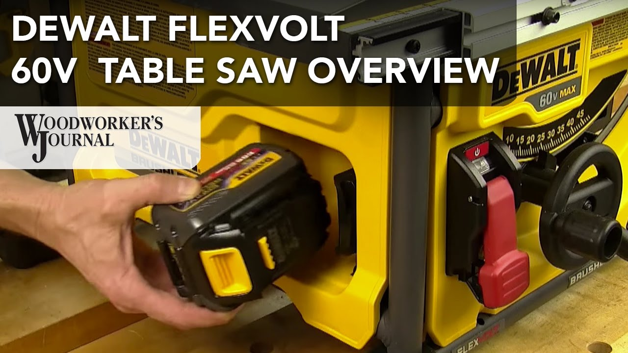 Dewalt flexvolt 60v max table saw features overview youtube greentooth