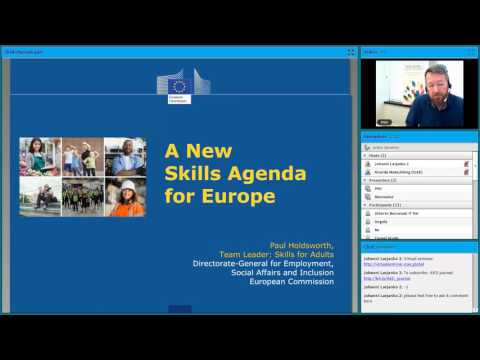 AED Webinar 2 May 2017 on the EU New Skills Agenda