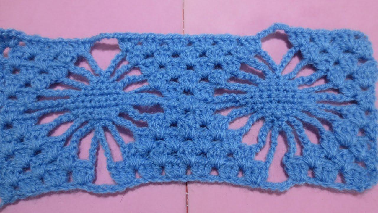 Muestra tejido araña crochet - YouTube