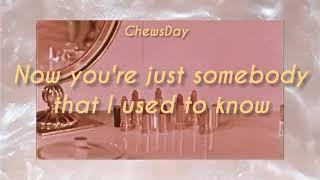 Gotye- Somebody that I used to know (ft. Kimbra) 1988 lyrics