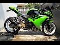 Video Modifikasi Motor Kawasaki Ninja 250 Warna Hijau Keren Terbaru