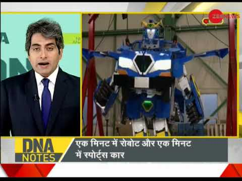 """DNA : The real life """"Transformer""""; Japanese engineers create a robot that turns into a sports car"""