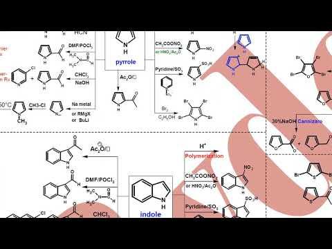 "Hetero Reactions ""pyrrole - furan - indole"" تفاعلات الهتيرو"