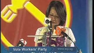 WP's Sylvia Lim at Aljunied GRC rally, April 29