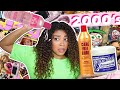 Doing my curly hair routine from 15 years ago! (when there was NO curly hair products) | jasmeannnn
