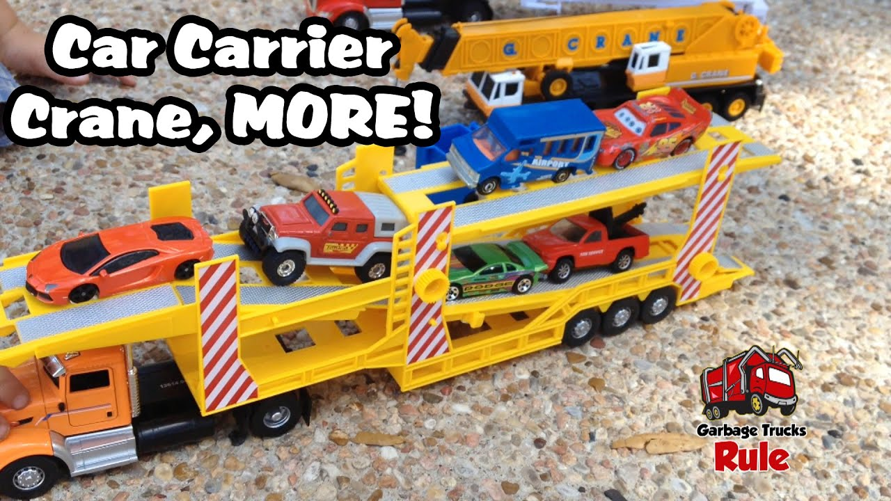 Toys R Us Toy Cars : Toys r us car carrier toy crane youtube