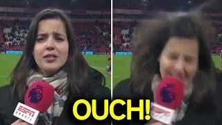 Painful Headshots During Interviews ● Unexpectedly Hit by Football ● Reporters, Trainers and More!