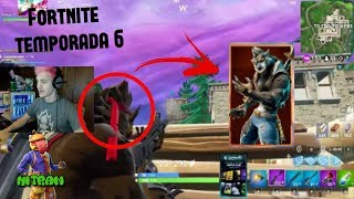 NINJA PLAYS WITH THE NEW SKIN OF THE WOLF MAN TO THE MAXIMUM FORTNITE SEASON 6