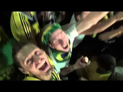 Neymar penalty and Brazilian celebrations FIFA World Cup 2014 Sao Paulo Fan Fest June 12