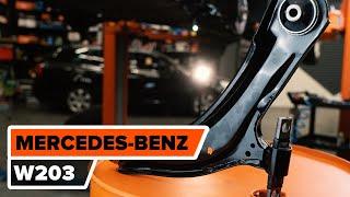 Kuinka vaihtaa taakse jousituksen etummainen alatukivarsi MERCEDES-BENZ C W203 -merkkiseen autoon