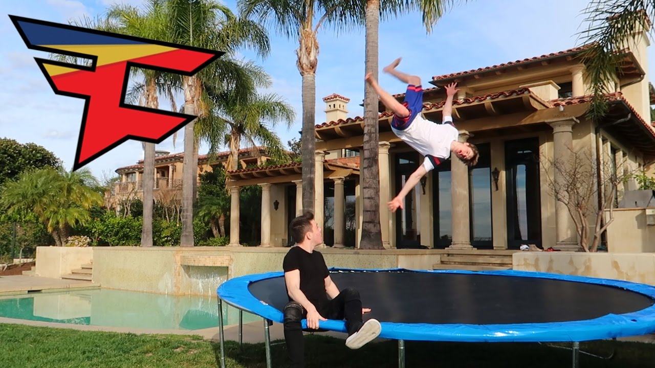 Faze House Trampoline Trickshots Youtube