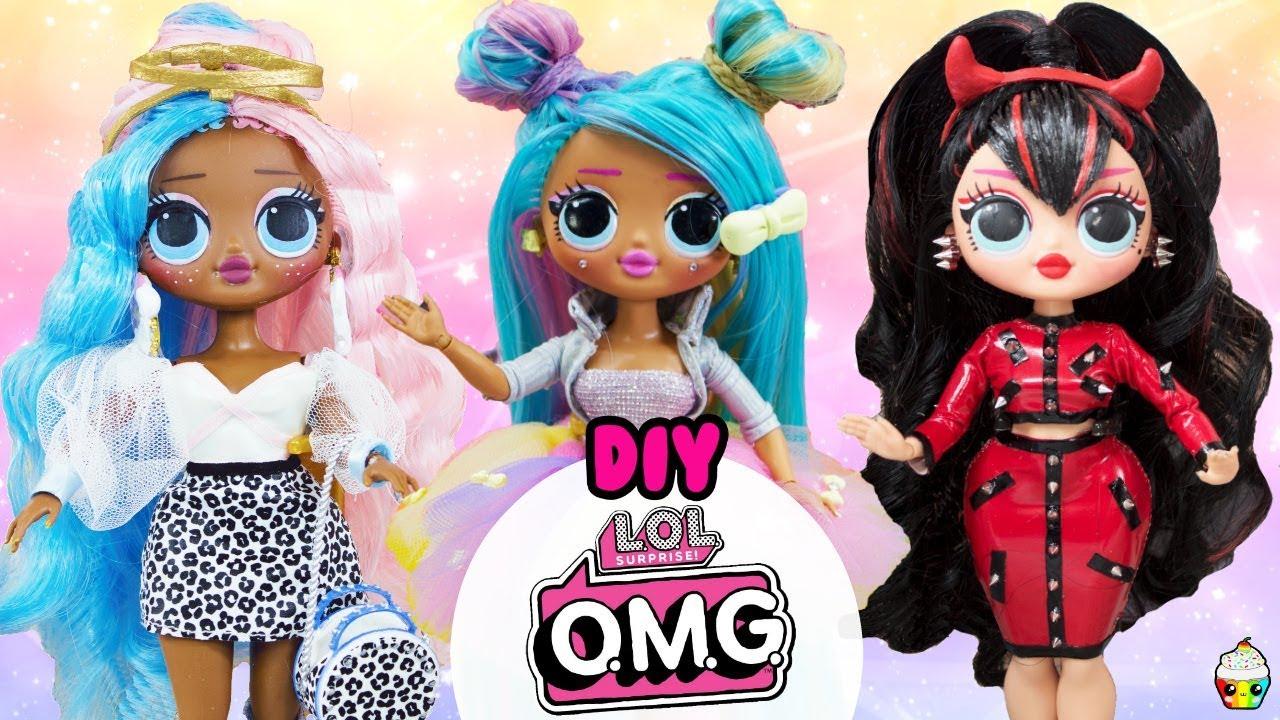Lol Omg Diy Compilation Omg Sugar Spice Bon Bon Big Sister Makeovers Youtube