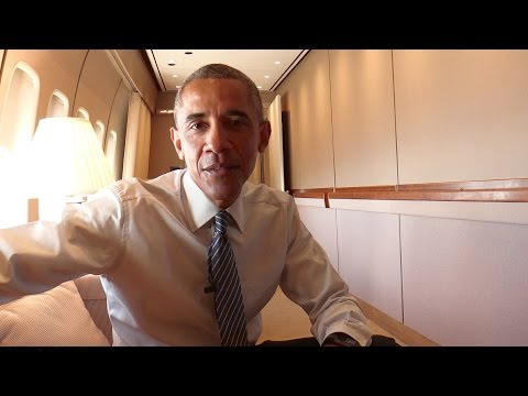 On Board with President Obama: Touching Down in Anchorage
