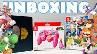 ✂️ UNBOXING - Super Smash Bros Ultimate + Battle Pad Hori