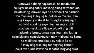 Repeat youtube video MAGDA (Gloc 9   Magda ft  Rico Blanco LYRICS)